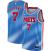Nike Men's Brooklyn Nets Kevin Durant #7 Hardwood Classic Blue Dri-FIT Swingman Jersey