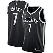 Nike Men's Brooklyn Nets Kevin Durant #7 Black Dri-FIT Icon Jersey