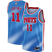 Nike Men's Brooklyn Nets Kyrie Irving # 11 Blue Dri-FIT Hardwood Classic Jersey