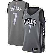 Nike Men's Brooklyn Nets Kevin Durant #7 Gray Dri-FIT Statement Swingman Jersey