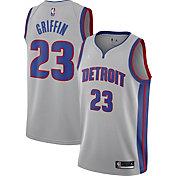 Jordan Men's Detroit Pistons Blake Griffin #23 Grey 2020-21 Dri-FIT Statement Swingman Jersey
