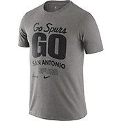 Nike Men's San Antonio Spurs Grey Dri-FIT Mantra T-Shirt