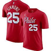 Jordan Men's Philadelphia 76ers Ben Simmons #25 Red Statement T-Shirt
