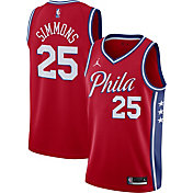 Jordan Men's Philadelphia 76ers Ben Simmons #25 Red 2020-21 Dri-FIT Statement Swingman Jersey