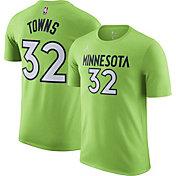 Jordan Men's Minnesota Timberwolves Karl-Anthony Towns #32 Green Statement T-Shirt
