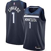 Nike Men's Minnesota Timberwolves Anthony Edwards #1 Navy Dri-FIT Swingman Jersey