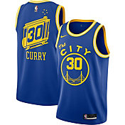 Nike Men's Golden State Warriors Stephen Curry #30 Blue Dri-FIT Hardwood Classic Jersey