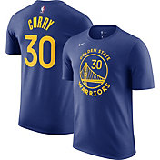 Nike Men's Golden State Warriors Steph Curry #30 Blue Cotton T-Shirt