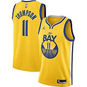 Jordan Men's Golden State Warriors Klay Thompson #11 Gold 2020-21 Dri-FIT Statement Swingman Jersey