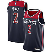 Jordan Men's Washington Wizards John Wall #2 Navy 2020-21 Dri-FIT Statement Swingman Jersey