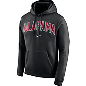 Nike Men's Alabama Crimson Tide Club Arch Pullover Fleece Black Hoodie