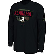 Nike Men's Alabama Crimson Tide 'Veterans Day' Long Sleeve Black T-Shirt