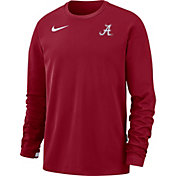 Nike Men's Alabama Crimson Tide Crimson Dri-FIT Coaches Pullover Long Sleeve Football T-Shirt