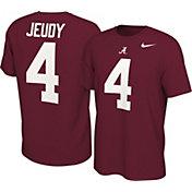 Nike Men's Jerry Jeudy Alabama Crimson Tide #4 Crimson College Alumni Core T-Shirt