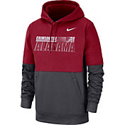 Nike Men's Alabama Crimson Tide Crimson Therma-FIT Sideline Fleece Football Hoodie