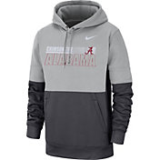Nike Men's Alabama Crimson Tide Grey Therma-FIT Sideline Fleece Football Hoodie