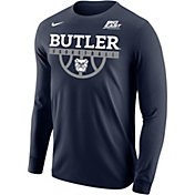Nike Men's Butler Bulldogs Blue Legend Basketball Long Sleeve T-Shirt