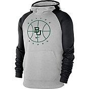 Nike Men's Baylor Bears Grey Spotlight Pullover Basketball Hoodie