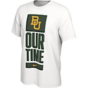 Nike Men's Baylor Bears 'Our Time' Bench White T-Shirt