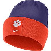 Nike Men's Clemson Tigers Orange/Regalia Dri-FIT Football Sideline Cuffed Knit Beanie