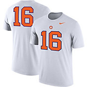 Nike Men's Clemson Tigers #16 Football Jersey White T-Shirt