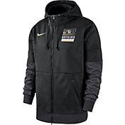 Nike Men's Colorado Buffaloes Therma Football Sideline Full-Zip Black Hoodie