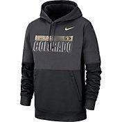 Nike Men's Colorado Buffaloes Grey Therma-FIT Sideline Fleece Football Hoodie