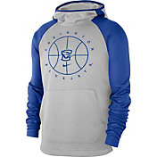 Nike Men's Creighton Bluejays Grey Spotlight Pullover Basketball Hoodie