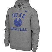 Nike Men's Duke Blue Devils Grey Pullover Basketball Hoodie