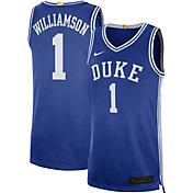 Nike Men's Zion Williamson Duke Blue Devils #1 Duke Blue Limited Basketball Jersey