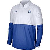 Nike Men's Duke Blue Devils White/Duke Blue Lightweight Football Coach's Jacket