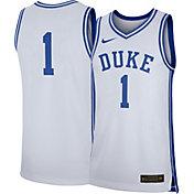 Nike Men's Duke Blue Devils #1 Replica Basketball White Jersey