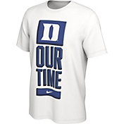 Nike Men's Duke Blue Devils 'Our Time' Bench White T-Shirt