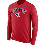 Nike Men's Dayton Flyers Red Dri-FIT Logo Long Sleeve T-Shirt