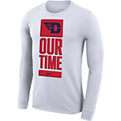 Nike Men's Dayton Flyers 'Our Time' Bench Long Sleeve White T-Shirt