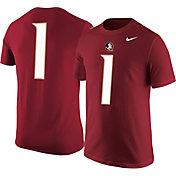 Nike Men's Florida State Seminoles #1 Garnet Jersey T-Shirt