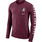 Nike Men's Florida State Seminoles Garnet 'Fear the Spear' Mantra Long Sleeve T-Shirt