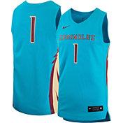 Nike Men's Florida State Seminoles #1 Turquoise Replica Basketball Jersey
