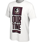 Nike Men's Florida State Seminoles 'Our Time' Bench White T-Shirt