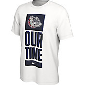 Nike Men's Gonzaga Bulldogs 'Our Time' Bench White T-Shirt