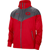 Nike Men's Georgia Bulldogs Red Windrunner Jacket