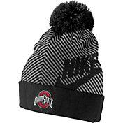 Nike Men's Ohio State Buckeyes Futura Knit Black Pom Beanie