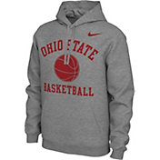 Nike Men's Ohio State Buckeyes Grey Pullover Basketball Hoodie