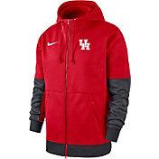 Nike Men's Houston Cougars Red Therma-FIT Full-Zip Hoodie