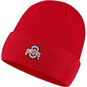 Nike Men's Ohio State Buckeyes Scarlet Cuffed Pom Knit Beanie