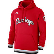Nike Men's Ohio State Buckeyes Scarlet Club College Pullover Fleece Hoodie