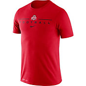Nike Men's Ohio State Buckeyes Scarlet Dri-FIT Cotton Football T-Shirt