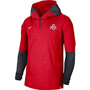 Nike Men's Ohio State Buckeyes Scarlet Lightweight Football Sideline Player's Jacket