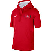 Nike Men's Ohio State Buckeyes Scarlet Showout Short Sleeve Hoodie