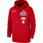 Nike Men's Ohio State Buckeyes Scarlet Therma Local Pullover Hoodie